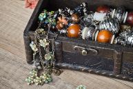 Antique Jewelry In Casket