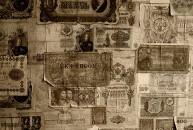 Rare vintage banknotes