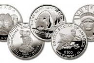 Variety of platinum coins