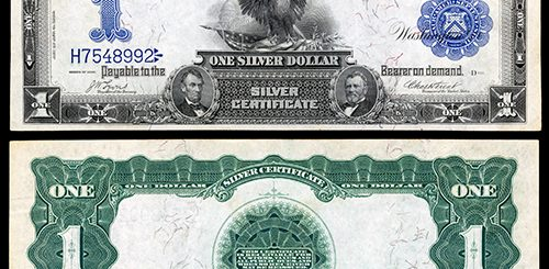 Currency Spotlight: 1899 $1 Black Eagle Silver Certificate - Coin ...