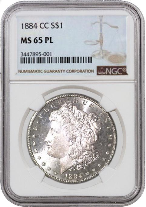 1884 Cc 1 Morgan Silver Dollar Ngc Ms65 Pl Ebay