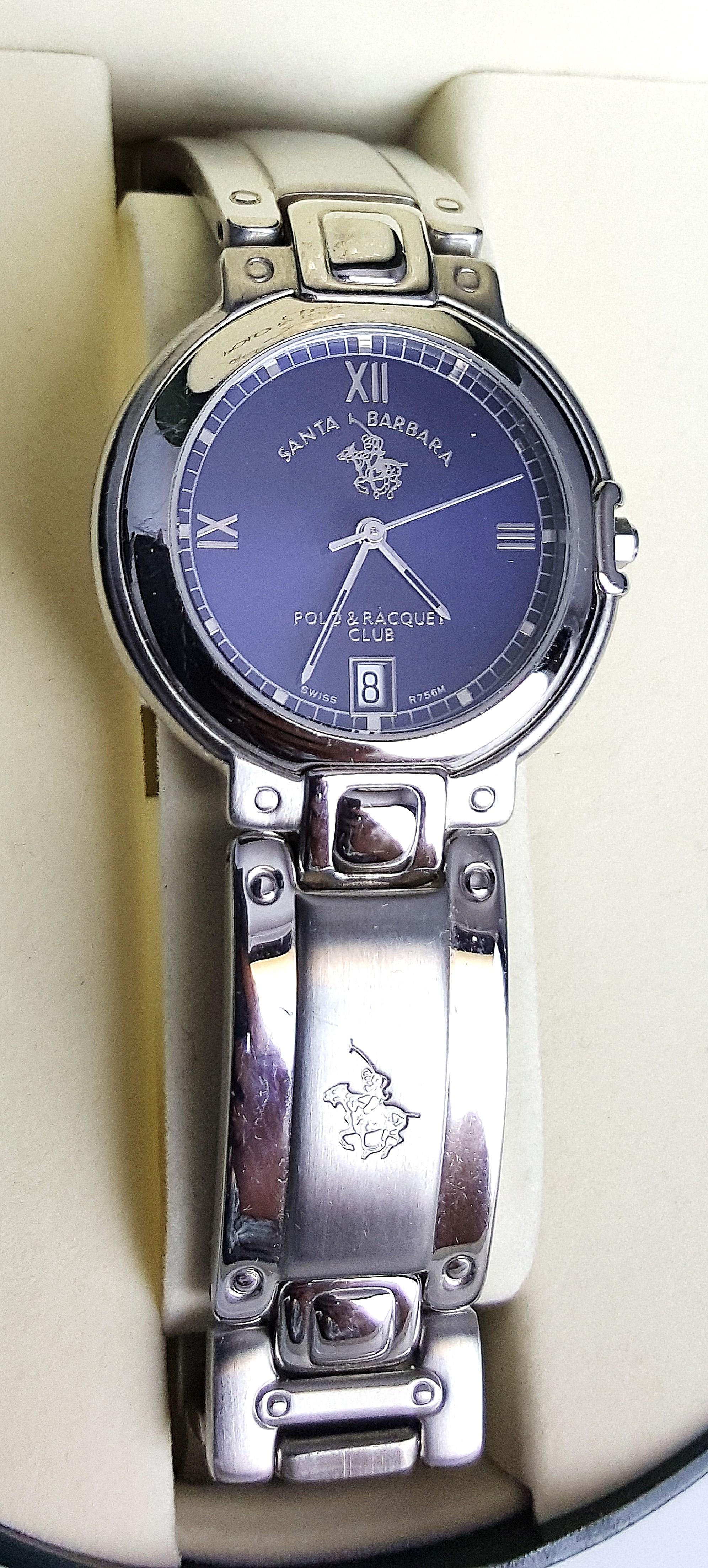 Santa barbara polo racquet club wristwatch swiss r756m for Santa barbara polo shirt