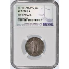 1916 25C Standing Liberty Quarter NGC XF Details