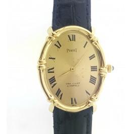 Rare 1960s Piaget Van Cleef  VCA 18k Gold  Bamboo Mechanical Watch