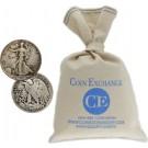 $100 Face Value Bag 90% Silver Walking Liberty Half Dollars Full Dates