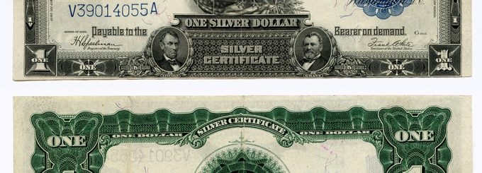 Series Of 1899 Black Eagle Silver Certificate