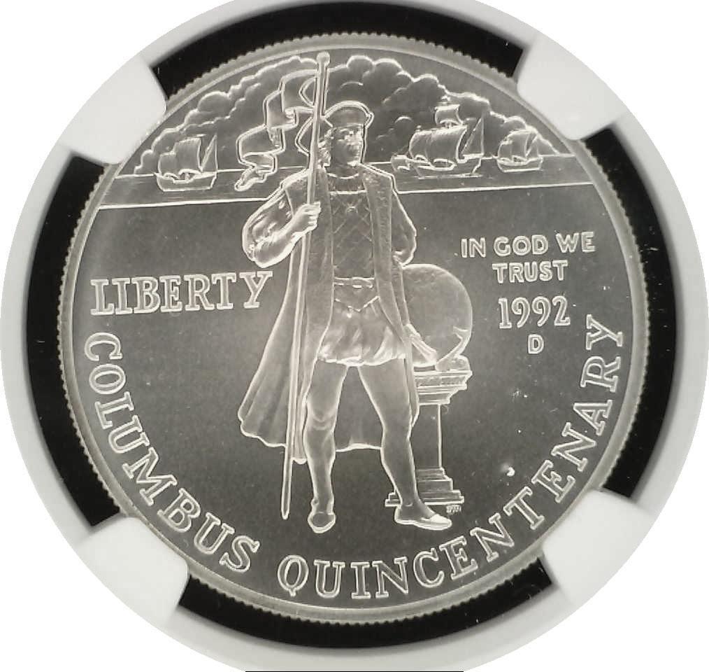 1992 D $1 Columbus Quincentenary Commemorative Silver Dollar NGC MS69