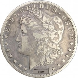 Random Year 1878-1904 $1 Morgan Silver Dollar VG to F Circulated Coin