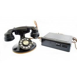1930's Western Electric Model 202 D1 Rotary Telephone E1 Handset 684A Ringer Box