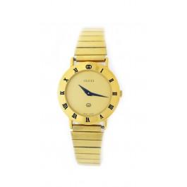 Authentic Vintage Gucci 3000L 25.6mm Gold Tone Dial Ladies Quartz Watch WORKS