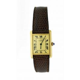 Vintage Must de Cartier Tank G20M 23mm Sterling Silver Vermeil Mechanical Watch