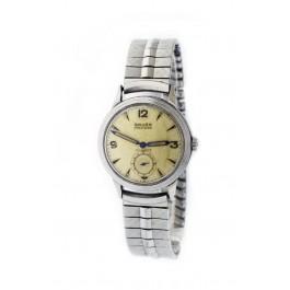 Vintage Gruen Precision Cal 460 32mm Steel Guildite Case Automatic Bumper Watch