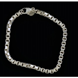 Vintage Tiffany Co 925 Sterling Silver 4mm Venetian Box Chain Link Bracelet 8 Coin Exchange Ny