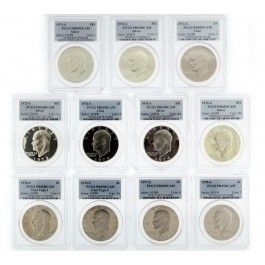 1971-1978 $1 San Francisco Mint Proof Eisenhower IKE Dollars PCGS PR69 DCAM