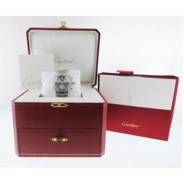 Cartier Must 21 Chronoscaph Black Dial Stainless Steel Quartz Watch W10172T2