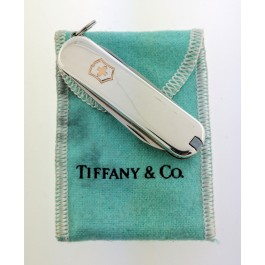 f2ac93eb8 Tiffany & Co Victorinox 18k Gold 925 Sterling Silver Swiss Army Knife With  Pouch
