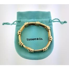 Vintage 1995 Tiffany & Co Atlas 18k Yellow Gold Groove Link Bracelet