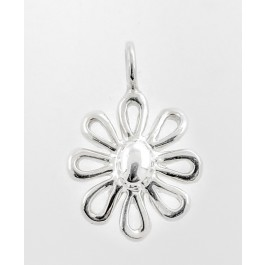 Tiffany & Co Paloma Picasso Sterling Silver Daisy Flower Pendant For Necklace
