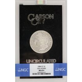 1884 CC $1 Morgan Silver Dollar NGC MS65+ GSA Hoard