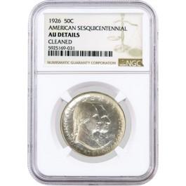 1926 50C American Sesquicentennial Commemorative Half Dollar NGC AU Details
