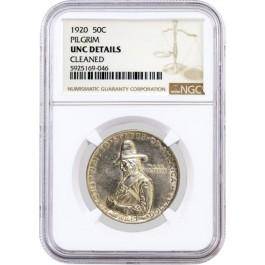 1920 50C Pilgrim Tercentenary Commemorative Silver Half Dollar NGC UNC Details