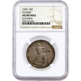1920 50C Pilgrim Tercentenary Commemorative Silver Half Dollar NGC AU Details