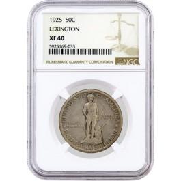 1925 50C Lexington Concord Sesquicentennial Commemorative Half Dollar NGC XF40