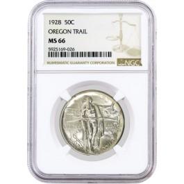 1928 50C Oregon Trail Memorial Commemorative Silver Half Dollar NGC MS66 Coin