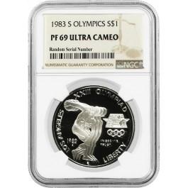 1983 S $1 Los Angeles Olympiad Commemorative Silver Dollar NGC PF69 UC