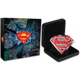 2017 $100 CAD 10 oz .9999 Silver DC Comics Originals: Superman's Shield Box COA
