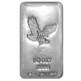 10 oz Silver Cast Bar .9999 Fine Eagle Design