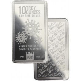 10 Oz 999 Fine Silver Bar Envela Covid 19 Pandemic Design Coin Exchange Ny