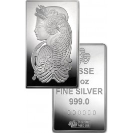 10 oz PAMP Suisse Lady Fortuna .999 Fine Silver Bar In Assay