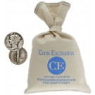 $100 Face Value Bag 90% Silver Mercury Dimes Full Dates