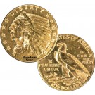 Random Year (1908 - 1929) $2.50 Indian Head Quarter Eagle Gold Cleaned