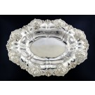 Whiting Manufacturing Co Sterling Silver Repousse Iris Motif Centerpiece Bowl 13