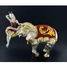 Vintage Tiffany & Co Gene Moore Sterling Silver Enamel Circus Elephant Performer