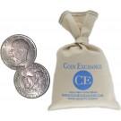 $100 Face Value Bag Copper Nickel Clad $1 Eisenhower IKE Dollars Full Dates