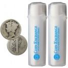 2 Rolls of 50 ea $10 Face Value 90% Silver Mercury Dimes Partial/No Date