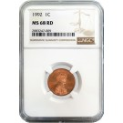 1992 D 1C Lincoln Memorial Cent NGC MS68 RD Red Gem Uncirculated Coin