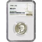 1944 25C Silver Washington Quarter NGC MS67+ Gem Uncirculated Coin