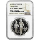 1995 P $1 XXVI Olympics Paralympics Commemorative Silver Dollar NGC PF70 UC