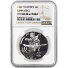 1995 P $1 XXVI Olympics Gymnastics Commemorative Silver Dollar NGC PF70 UC