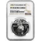 1992 P $1 Columbus Quincentenary Commemorative Silver Dollar NGC PF70 UC