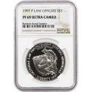 1997 P $1 Law Officers Memorial Commemorative Silver Dollar NGC PF69 UC