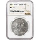 2003 P $1 First Flight Centennial Commemorative Silver Dollar NGC MS70