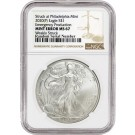 2020 (P) $1 Silver American Eagle MINT ERROR Weakly Struck NGC MS67 Emergency Production