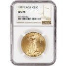 1997 $50 1 oz Gold American Eagle NGC MS70 Gem Uncirculated Coin