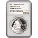 2006 P $1 Franklin Founding Father Commemorative Silver Dollar NGC PF70 UC