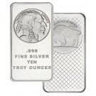 Silvertowne American Buffalo 10 oz .999 Fine Silver Bar NEW SEALED